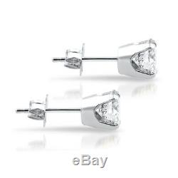 1.50Ct Round Brilliant Cut Natural Diamond Stud Earrings In 14K Gold