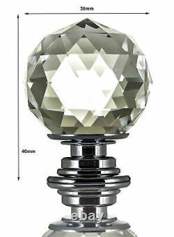 10 Crystal Glass Door Knobs Diamond Drawer Cabinet Furniture Handle Knob Kitchen