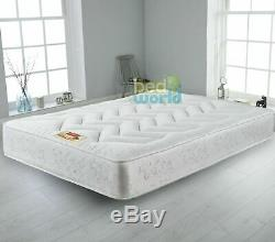 10 Deep Quilted Orthopeadic Sprung Mattress 3ft single 4ft 4ft6 Double 5ft King