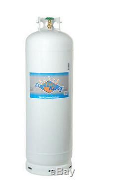 100 LB Pound Steel Propane Tank LPG Refillable Cylinder with POL Valve NEW