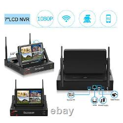 1080P Home Security Camera System Wireless CCTV 4CH HD 7Monitor Outdoor 1TB HDD