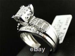 10k Ladies White Gold Princess Cut Diamond Engagement Wedding Bridal Ring 1 Ct