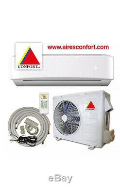 12,000 BTU System Ductless Air Conditioner, Heat Pump Mini split 110V 1 Ton withkit
