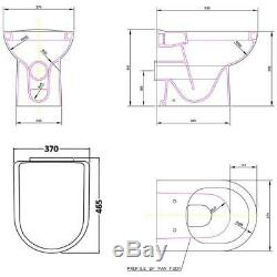 1550mm Gloss White Bathroom Furniture Set Cabinet Vanity Unit Basin Sink Toilet