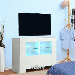 1M Modern LED Lights Corner TV Cabinet Unit Stand White Gloss Matte Body TVC15