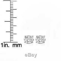 1ct Diamond Studs 14K White Gold
