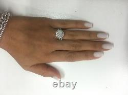 2.00 Ct Round Cut D/si1 Halo Diamond Solitaire Engagement Ring 14k White Gold