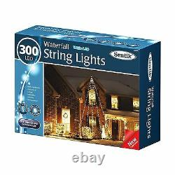 300 Led Fairy String Waterfall Lights Bright White Led Xmas Decor Indoor Outdoor