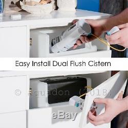 550mm Vanity Unit Basin Sink Laura Back to Wall Toilet Bathroom Furniture Suite