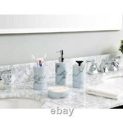 6pc Bathroom Set Accessories Bin Soap Dispenser Toothbrush Tumbler Toilet Brush