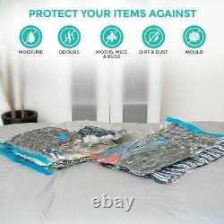 8 X Large Space Saving Storage Vacuum Bags Clothes Bedding Organiser Under Bed
