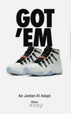 Air Jordan 11 Adapt White Shoes (DA7990-100) Men's Size 10 Brand New In Box