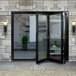 Aluminium Bifold Doors inc Glass in Anthracite Grey or White 3m Wide