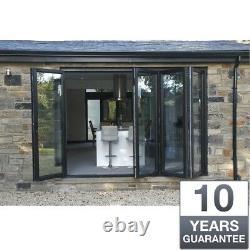 Aluminium Bifold Doors inc Glass in Anthracite Grey or White 4m Wide