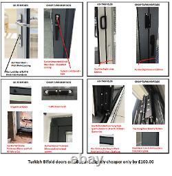 Aluminium Bifold Doors inc Glass in Anthracite Grey or White 5m Wide