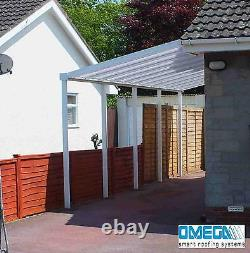 Aluminium Canopy, Patio cover, Carport, Lean To, Smoking Shelter 7ft x 5ft