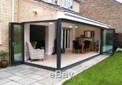 Aluminium bi folding doors smart visafold 1000 (£570 per sash)