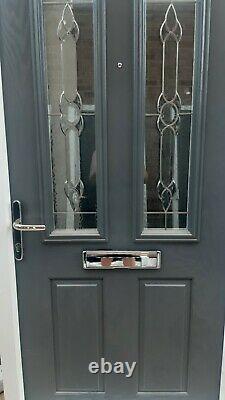 BRAND NEW Composite Door 1000 x 2040 Grey outside White inside