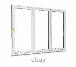 BRAND NEW MADE TO ORDER White uPVC 3part Bi-Fold door