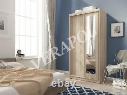 BRAND NEW WARDROBE With sliding doors & MIRROR bedroom hallway living furniture