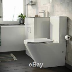 Bath + Toilet Pan Free Standing Vanity Unit Complete Bathroom Suite Desner
