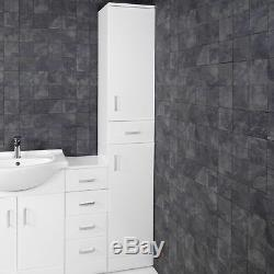 Bathroom Sink Cabinet Vanity Unit White Basin Storage Furniture Door Sink Toilet