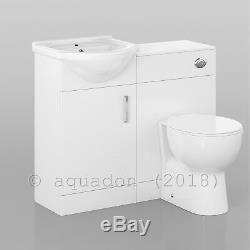 Bathroom Vanity Unit 450mm Basin Sink Laura Back to Wall Toilet Furniture Suite