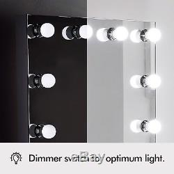 Beautify Electric Hollywood Vanity Makeup Light up Mirror- 12 Dimmable LED Bulbs