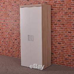 Bedroom Furniture Set Sonoma Oak/White Wardrobe 4+2 Drawer Chest 3 Draw Bedside