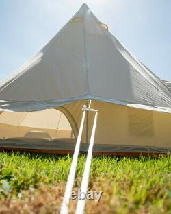 Bell Tent 4M Canvas bell tent with zipped on canopy Free Bunting & delivery