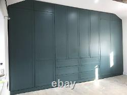 Bespoke Design Fully Fitted Wardrobes With Shaker Doors