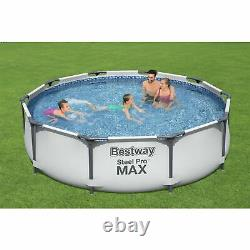 Bestway Unisex 10ft Steel Pro Max Garden Frame Pool Above Ground Pools Swimming