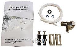 Bidet4me E-300A Electric Bidet Toilet Seat, Plastic, Elongated White -DIY Kit