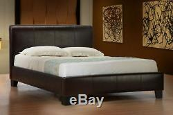 Black Friday Leather Bed-double King-black-brown-white Memory Foam Mattress