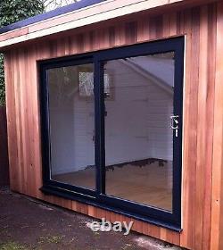Black on White Sliding Patio uPVC / Patio Doors / 1800mm x 2100mm / BRAND NEW