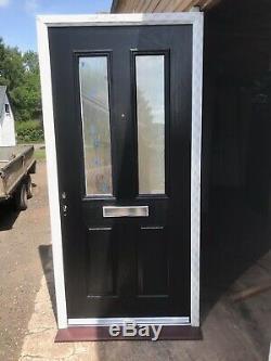 Brand New Black Composite Front Door 1005-2095 Brand New In White Upvc Frame