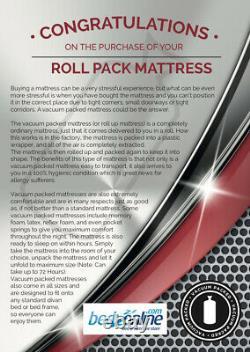 Brand New Deluxe 2500 Pocket Sprung Mattress Damask Cool Damask Fabric