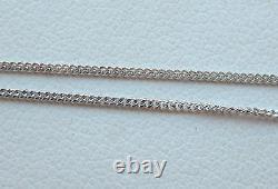 Brand New Diamond Solitaire 9ct White Gold Pendant Necklace & Gold Chain £160