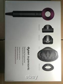 Brand New Dyson HD03 Supersonic Hair Dryer Iron & Fuchsia and Silver & White