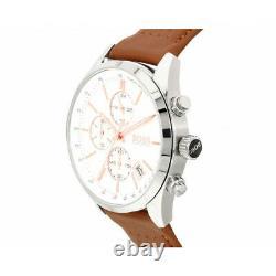 Brand New Hugo Boss 1513475 Grand Prix Leather Strap Chronograph Men's Watch