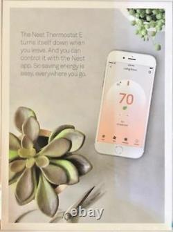 Brand New Nest Programmable Thermostat E White Model T4000es