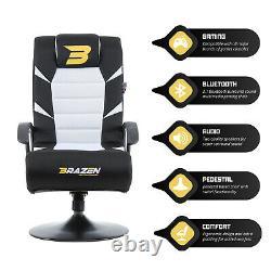 Brazen Pride Gaming Chair 2.1 Bluetooth Surround Sound Brand New White