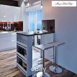 Breakfast Bar Table Dining Wine Storage Rack Kitchen Coffee Brunch Counter New