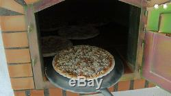 Brick outdoor wood fired Pizza oven 70cm white Deluxe model
