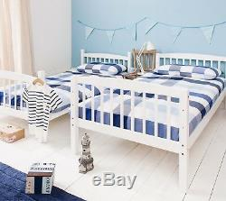 Bunk Bed Wooden Single Kids Bed White Can be split into 2 singles Brighton