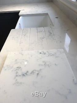 CARRARA WHITE Quartz KITCHEN WORKTOP AFFORDABLE PRICE 20 Mm