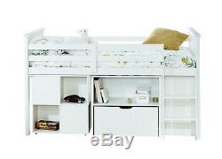 Cabin Bed Midsleeper Sleepstation Kids bed Bunk Oliver in White