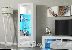 Cabinet Sideboard Unit Cupboard Display matt body High Gloss Doors LED