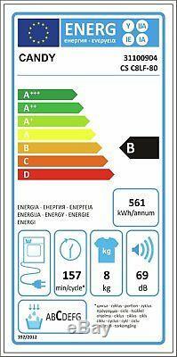 Candy CSC8LF 8KG LED Display NFC Sensor Dry Condenser Tumble Dryer White