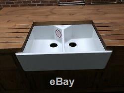 Ceramic White Double belfast Butler Kitchen sink Brand New Boxed 800